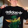 Baby Yoda Adidas all day I dream about ducks Shirt