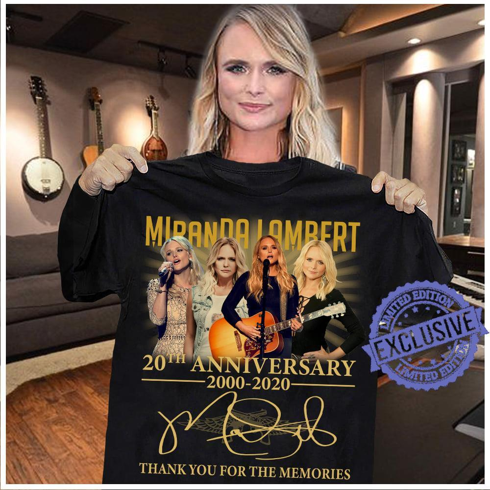 Miranda lambert 20th anniversary 2000 2020 thank you for the memories shirt
