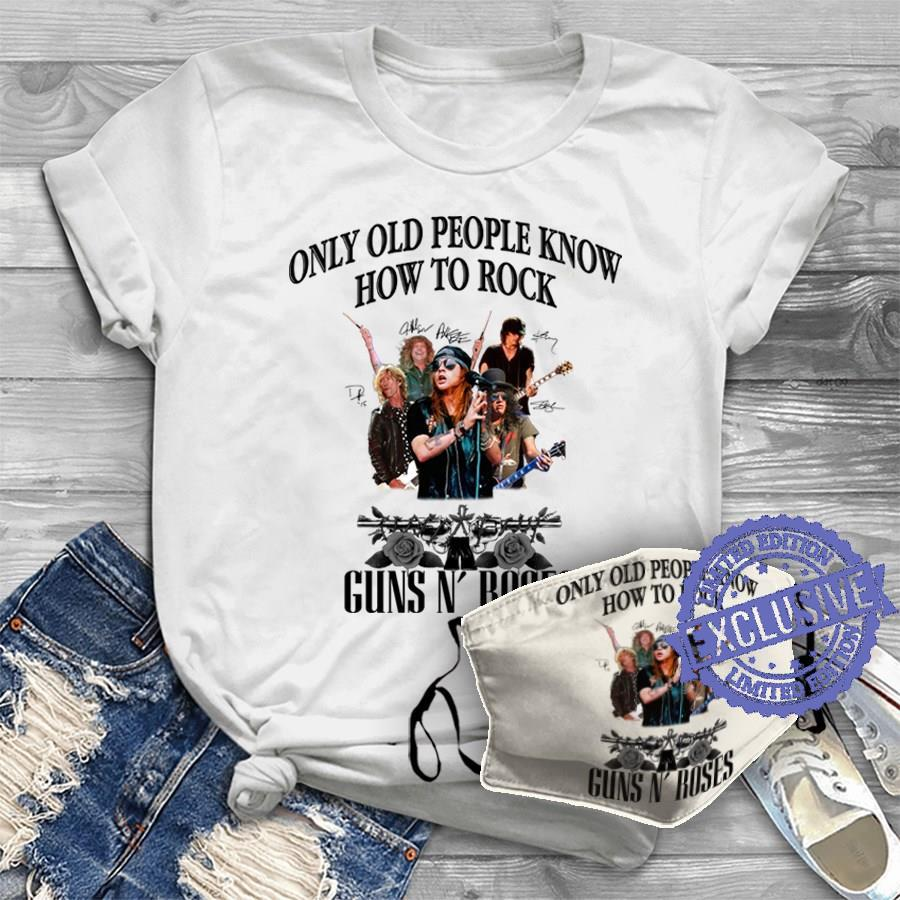 Only old people know how to rock guns n' roses shirt