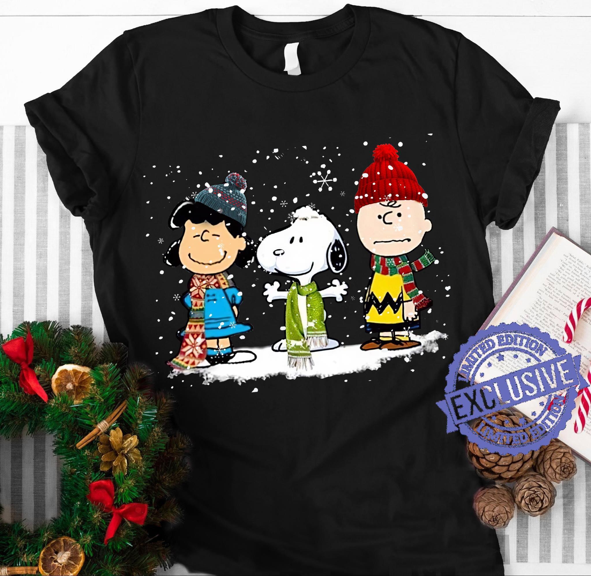 Three snoopy and charlie brown shirt