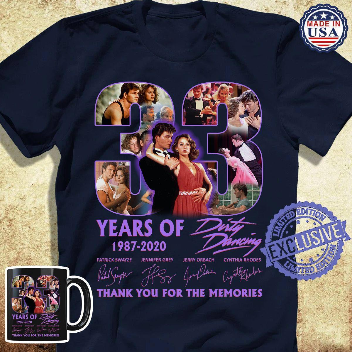 Years of 2020 dirty dancing thank you for the memories shirt